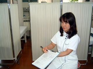 予診票の記入